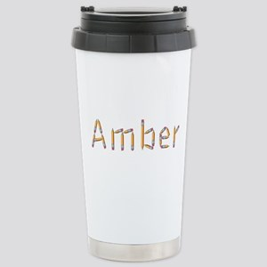 Amber Pencils Stainless Steel Travel Mug