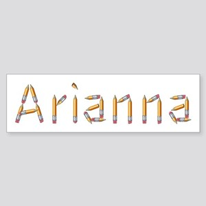 Arianna Pencils Bumper Sticker