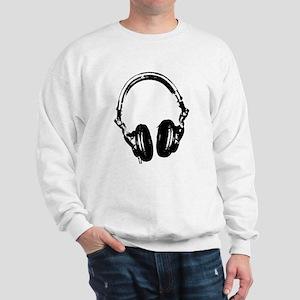 Dj Headphones Stencil Style T Shirt Sweatshirt
