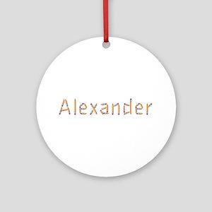 Alexander Pencils Round Ornament