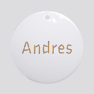 Andres Pencils Round Ornament