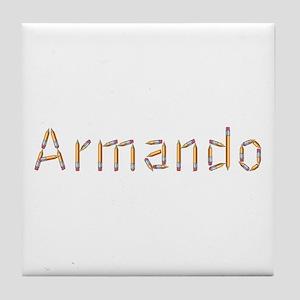 Armando Pencils Tile Coaster