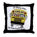 So Many Kids Throw Pillow