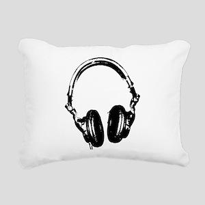 Dj Headphones Stencil Style T Shirt Rectangular Ca