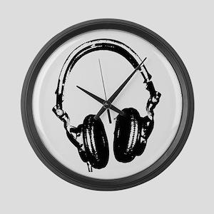 Dj Headphones Stencil Style T Shirt Large Wall Clo