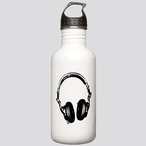 Dj Headphones Stencil Style T Shirt Stainless Wate