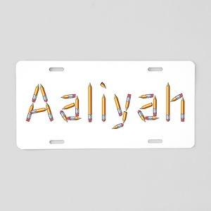 Aaliyah Pencils Aluminum License Plate