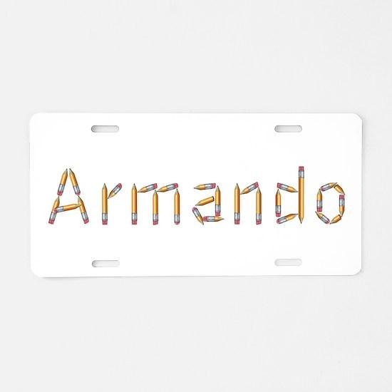Armando Pencils Aluminum License Plate