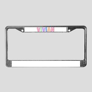 Vivian Rainbow Pastel License Plate Frame