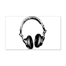 Dj Headphones Stencil Style T Shirt Wall Decal