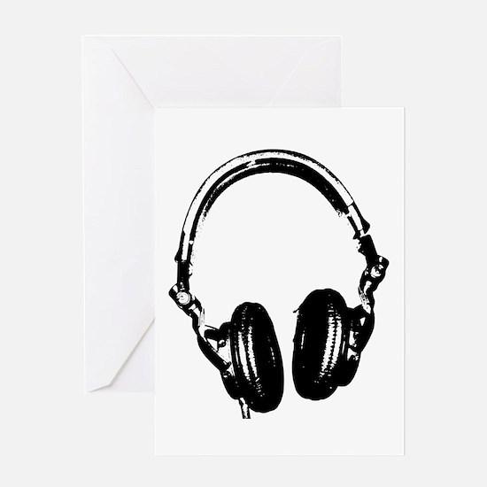 Dj Headphones Stencil Style T Shirt Greeting Card