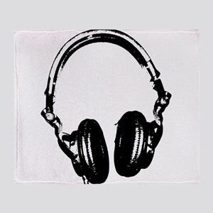 Dj Headphones Stencil Style T Shirt Stadium Blank