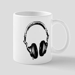 Dj Headphones Stencil Style T Shirt Mug