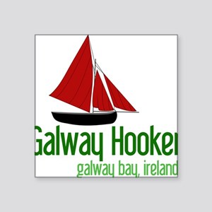 "Galway Hooker Square Sticker 3"" x 3"""