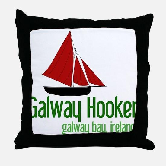 Galway Hooker Throw Pillow