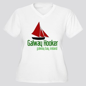 Galway Hooker Women's Plus Size V-Neck T-Shirt
