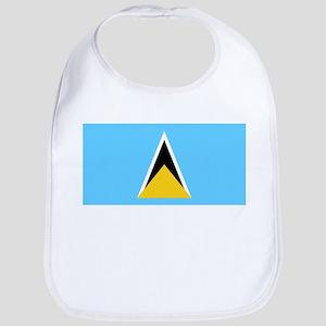 Saint Lucia Flag Picture Bib