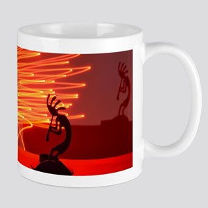 Kokopelli Creates Fire Energy Mug