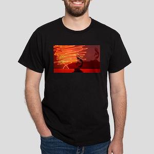 Kokopelli Creates Fire Energy Dark T-Shirt