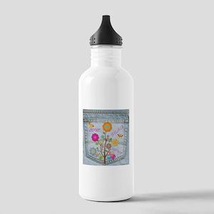 Denim Pocket Peace Love Hope Stainless Water Bottl