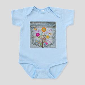 Denim Pocket Peace Love Hope Infant Bodysuit