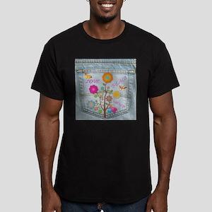 Denim Pocket Peace Love Hope Men's Fitted T-Shirt