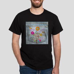 Denim Pocket Peace Love Hope Dark T-Shirt