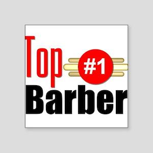 "Top Barber Square Sticker 3"" x 3"""