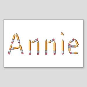 Annie Pencils Rectangle Sticker