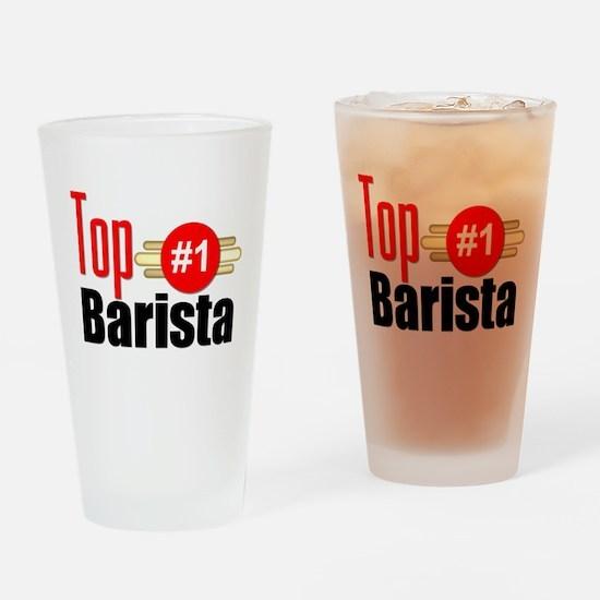 Top Barista Drinking Glass