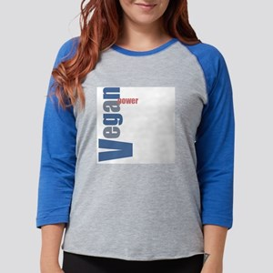 veganpower Womens Baseball Tee