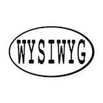 WYSIWYG Oval Car Magnet