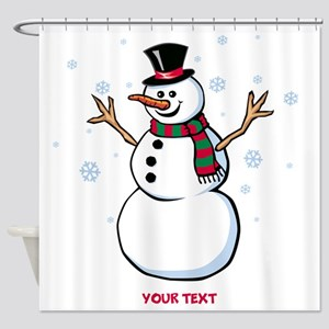 Custom Snowman Shower Curtain