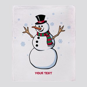 Custom Snowman Throw Blanket