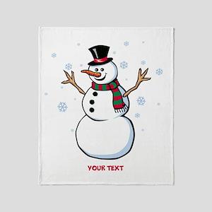 Custom Snowman Throw Blanket