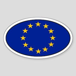 European Union (EU) Oval Sticker