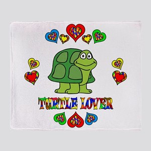 Turtle Lover Throw Blanket
