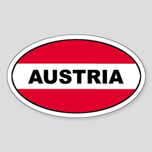 Austrian Oval Flag on Oval Sticker