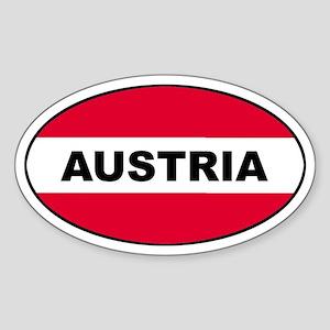 Austrian Oval Flag on Oval Sticker