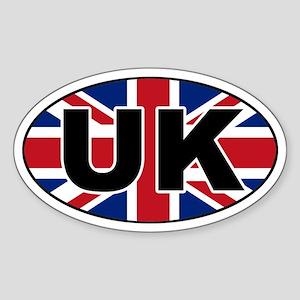 United Kingdom (UK) Flag Oval Sticker
