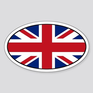 United Kingdom (UK) Flag Oval Sticker