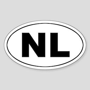Dutch / The Netherlands (NL) Oval Sticker