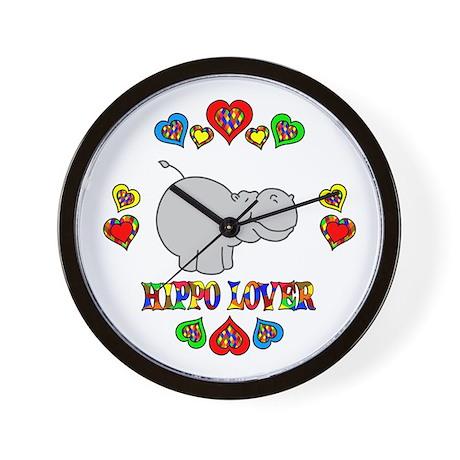 Hippo Lover Wall Clock
