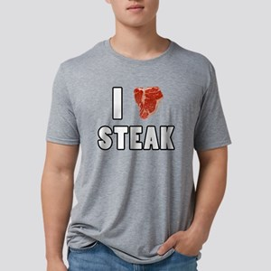 I Heart Steak Mens Tri-blend T-Shirt