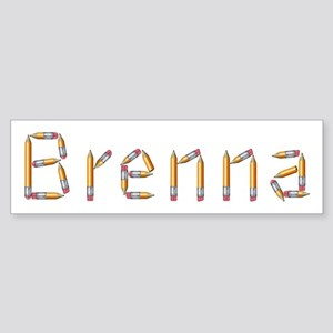 Brenna Pencils Bumper Sticker