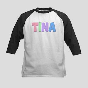 Tina Rainbow Pastel Kids Baseball Jersey