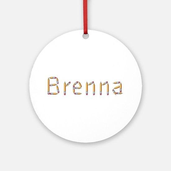Brenna Pencils Round Ornament