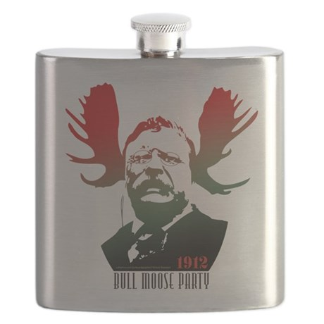 Bull Moose Party Flask