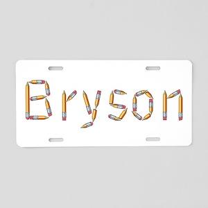 Bryson Pencils Aluminum License Plate