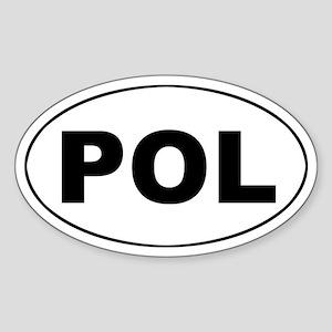 Poland (POL) Oval Sticker